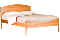 Luna Moondance Bed in Cherry with Natural Finish