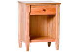Shaker 1-Drawer Nightstand in Cherry with Natural Finish