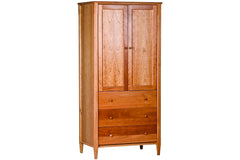 Shaker Armoire in Cherry with Natural Finish