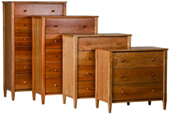 Shaker Chests in Cherry with Natural Finish