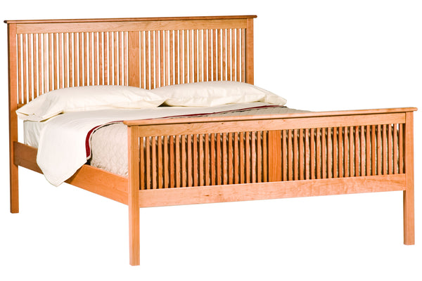 Shaker Heritage Bed in Cherry with Cherry Spindles and Natural Finish