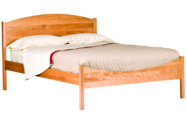 Shaker Moondance Bed in Cherry with Natural Finish