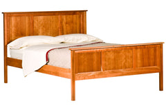 Shaker Panel Bed in Cherry with Natural Finish