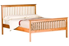 Shaker Spindle Bed in Cherry with Natural Finish