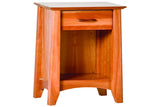 Willow 1-Drawer Nightstand in Cherry
