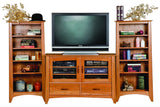 Media Cabinets May Be Combined with Media Towers to Form a Beautiful Entertainment Center