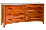 Willow 6-Drawer Dresser in Cherry
