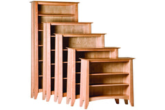 Woodforms Willow Bookcases are available in five heights and crafted from Cherry
