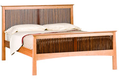 Willow Heritage Bed in Cherry with Walnut Spindles and Natural Finish