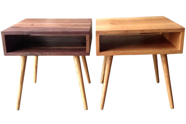 Mid-century side table available in Walnut or White Oak