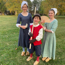 Load image into Gallery viewer, 18th Century Children's Clothing. Girls Back Laced Gowns & Boys outfit