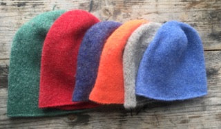 Felted Toque for the 18th Century knit from 100% wool