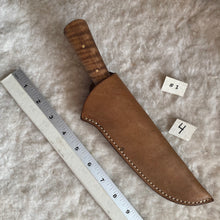 "Load image into Gallery viewer, Jeff White aknife #1 with Leather Sheath ""4"""
