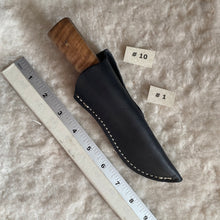 "Load image into Gallery viewer, Jeff White Knife in Leather Sheath ""#1"""