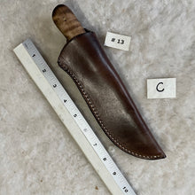 "Load image into Gallery viewer, Jeff White Knife #13 in a Leather Sheath ""C"""
