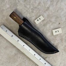 "Load image into Gallery viewer, Jeff White Knife #2 in a Leather Sheath ""#1"""