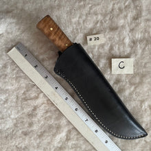 Load image into Gallery viewer, Jeff White Knife #20 (Drop Point, Curly Maple Handle)