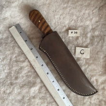 "Load image into Gallery viewer, Jeff White Knife #36 in Leather Sheath ""C"""