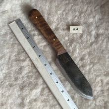 Load image into Gallery viewer, Jeff White Knife #4, Kephart with a Curly Maple Handle.