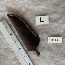 "Load image into Gallery viewer, Jeff White Knife #11, Patch Knife inside Leather Sheath ""L"""