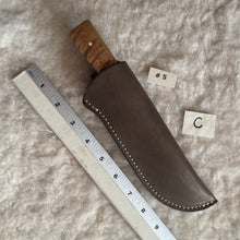"Load image into Gallery viewer, Jeff White Knife #5 in a Leather Sheath ""C"""