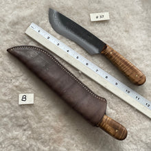 "Load image into Gallery viewer, Jeff White Knife #37 with Leather Knife Sheath ""B"""