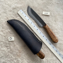 "Load image into Gallery viewer, Jeff White Knife #37 with Leather Knife Sheath ""D"""