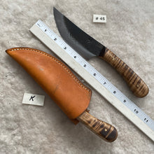"Load image into Gallery viewer, Jeff White Knife #45 with Leather Sheath ""K"""