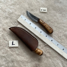 "Load image into Gallery viewer, Jeff White Knife #50 with Leather Sheath ""L"""