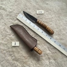 "Load image into Gallery viewer, Jeff White Knife #52 with Sheath ""1"""