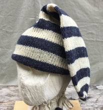 Load image into Gallery viewer, Double Toque with Navy Stripes