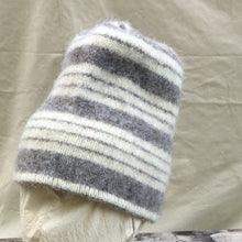 Load image into Gallery viewer, Gray Striped Felted Toque