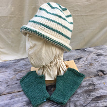 Load image into Gallery viewer, Rolled Toque in Green Stripe with matching Muffattees