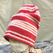 Load image into Gallery viewer, Red Stri[ed Felted Toque.