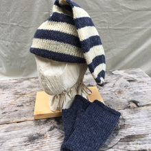 Load image into Gallery viewer, striped Double Toque with matching Muffattees