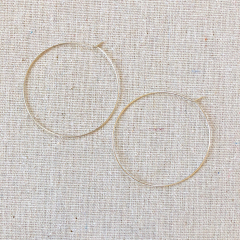 14k Gold-Filled or SS Hoops - Large