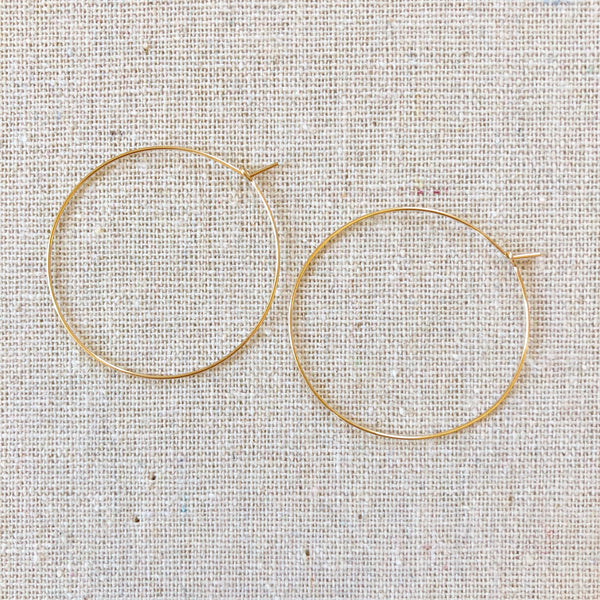14k Gold-Filled or SS Hoops - Small