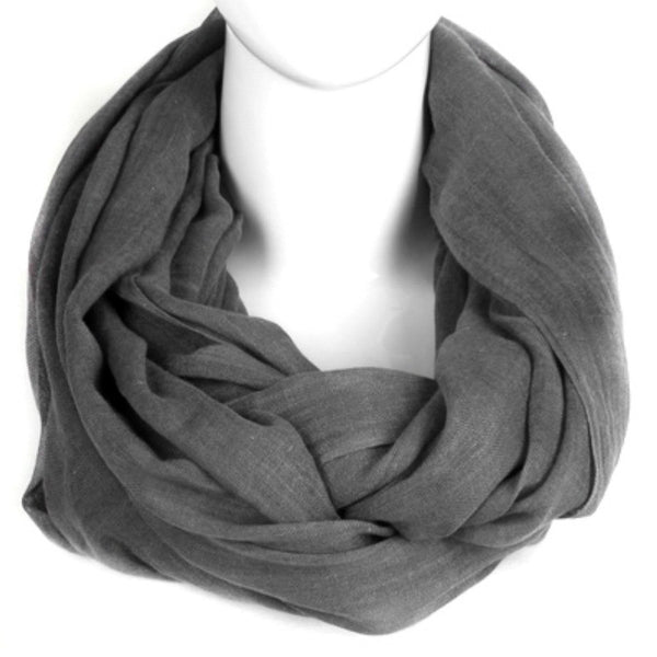 Woven Infinity Scarf - Grey - A Jewelry Wonderland