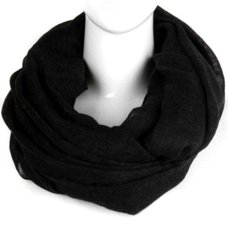 Woven Infinity Scarf - Black - A Jewelry Wonderland