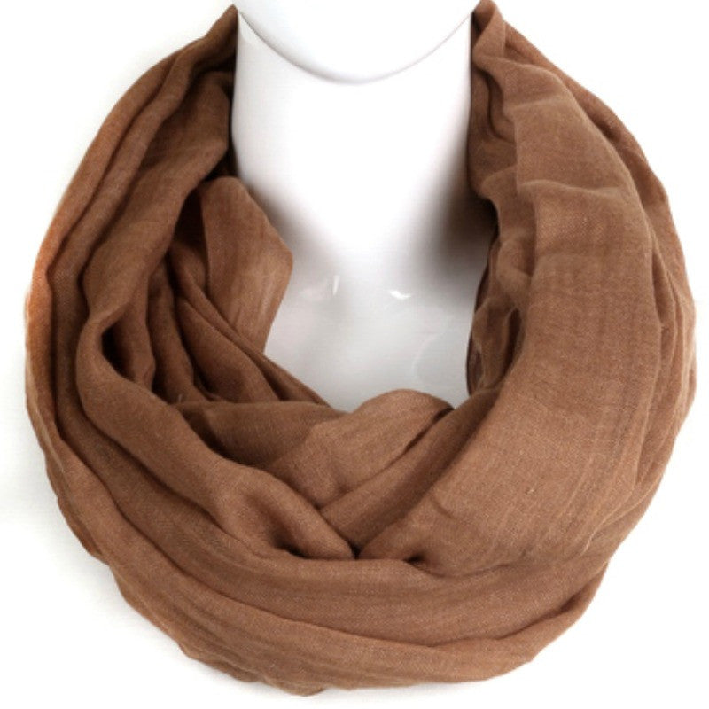 Woven Infinity Scarf - Clay - A Jewelry Wonderland