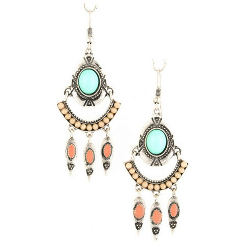 Fringe Jewel Earrings - A Jewelry Wonderland  - 1