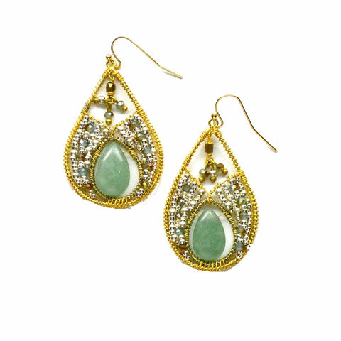 Celestia Teardrop Earrings - A Jewelry Wonderland  - 1