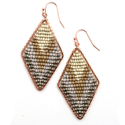 Chandler Earrings - Grey Mix - A Jewelry Wonderland
