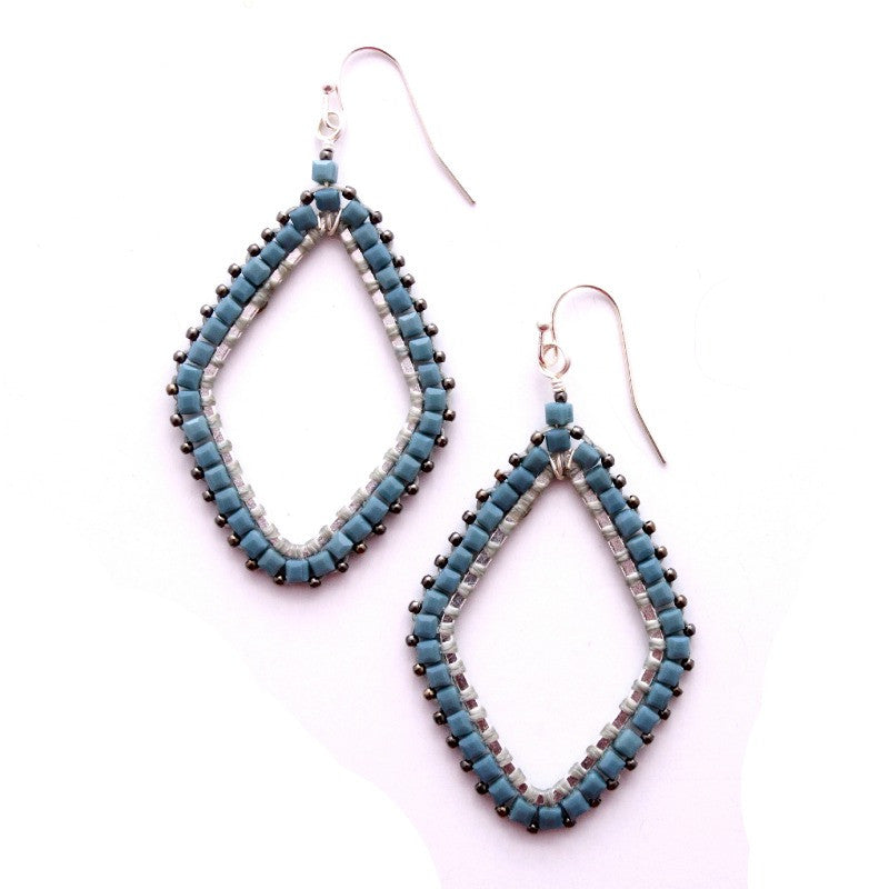 Porter Earrings - Blue/Silver - A Jewelry Wonderland