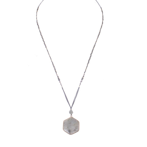 Labradorite Drop Pendant Necklace