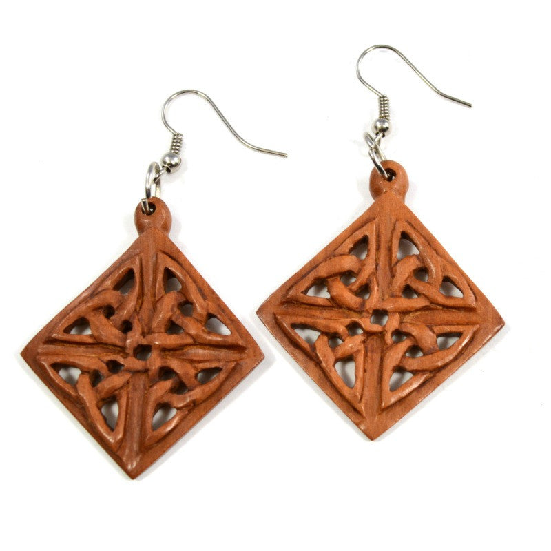 Sawo Wood Earrings - Rajis - A Jewelry Wonderland