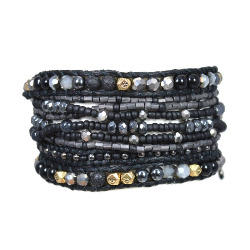 Wrap Bracelet - Black Mix - A Jewelry Wonderland  - 1
