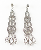 Long Dangle Stacking Circles Earrings - A Jewelry Wonderland  - 2