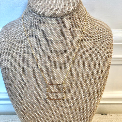Ladder Necklace - Gold