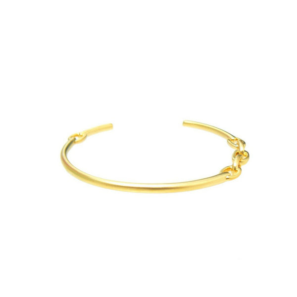 Link Open Bracelet - Antique Gold